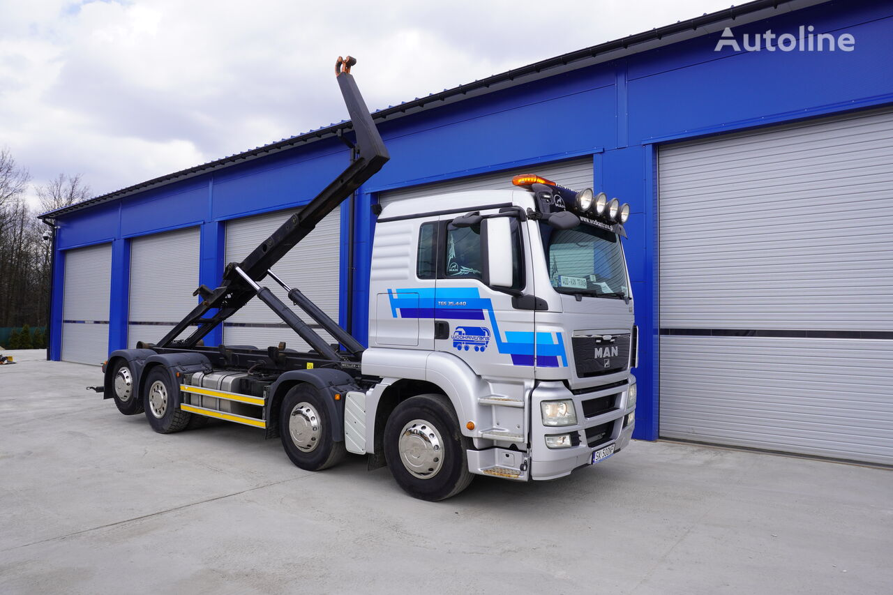 hákový nosič kontejnerů MAN TGS 35.440 HAKOWIEC MEILLER RK 20.70 EURO5 EEV 8x2